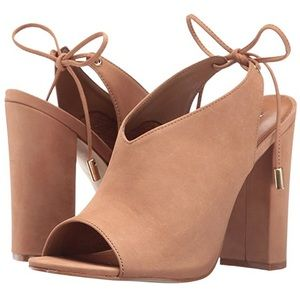 Steve Madden Shoes - Steve Madden Saffron Tan Mules with Tie Ankle